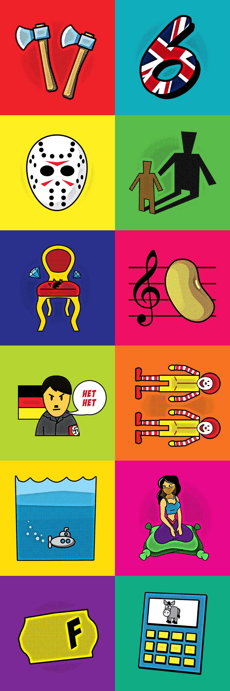 Иллюстрации для викторины